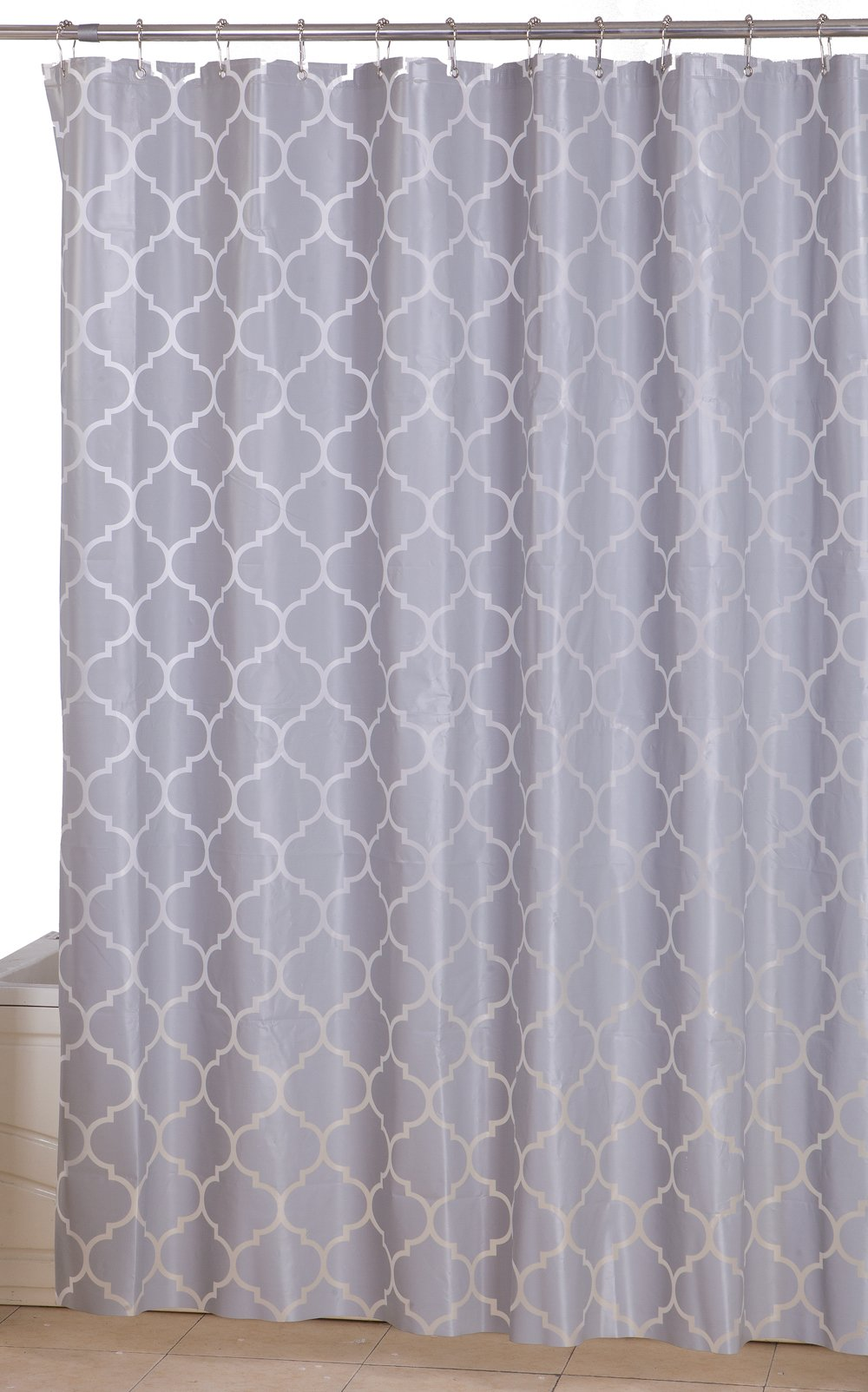Get Quotations Utopia Home Opulent Printed Shower CurtainsGrey Pattern72 X 72 Inches