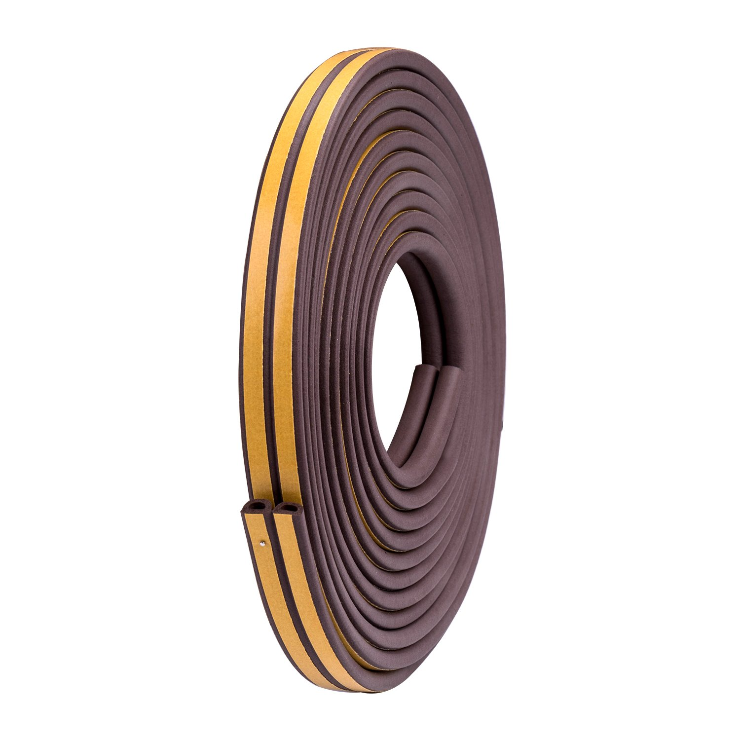 """Stop Now Heavy-Duty Self Adhesive Rubber Weatherstrip Seal for Door window Anti-collision, 3/8-Inch x 1/4-Inch(D), 3/8-Inch x 5/32""""(E), 16.5-Feet, 4 Seals (D)"""