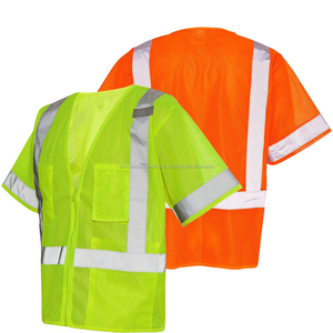 Factory Roadway Jacket Reflective Strips Work Wear Visibility Security Safety Vest