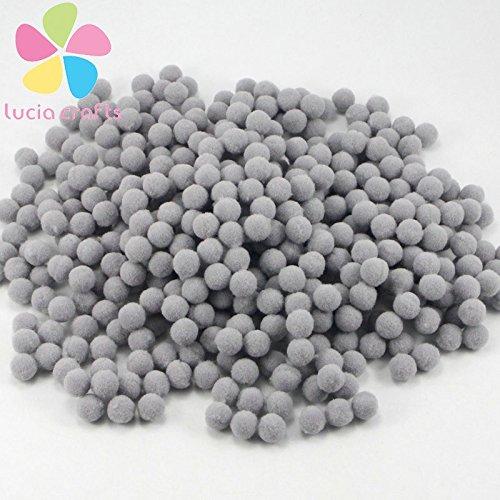 288pcs/lot 10mm Pompoms Soft Pom Poms balls Christmas (Grey)