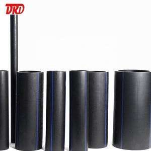 Drinking water hdpe black plastic drain pipe18inch 200mm HDPE pipe