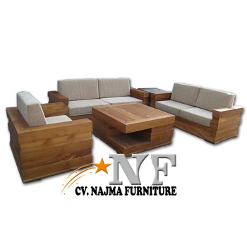 2017 Hot Sale Teak Wood Sofa Set Minimalis Design Living Room Furniture