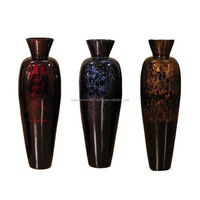 Convenient flower vase spun natural bamboo vase/Wholesale lacquer bamboo vase