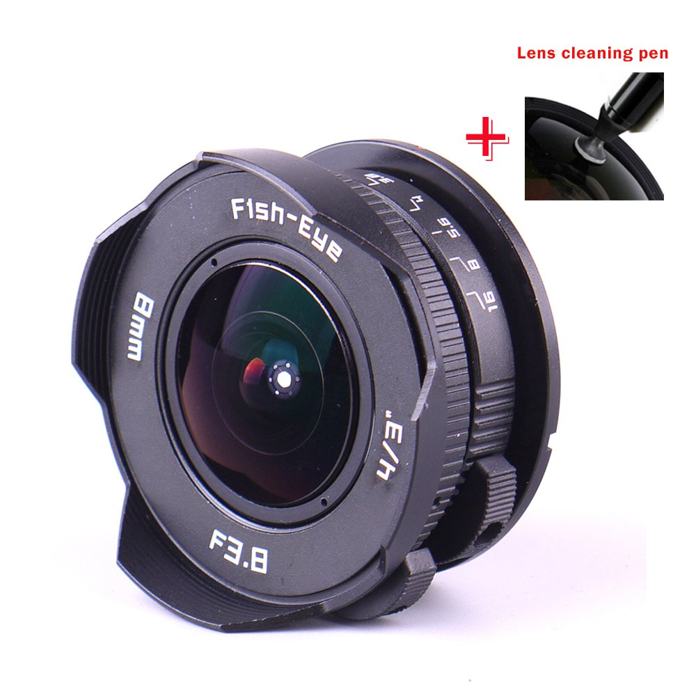 0b46a9227c1ee6 Get Quotations · PIXCO 8mm F3.8 Fish-eye C mount Wide Angle Fisheye Lens  Suit For