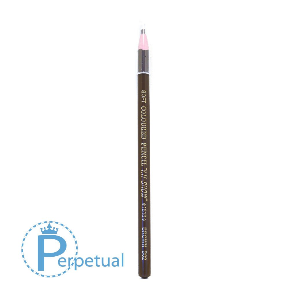 Waterproof Permanent Makeup & Microblading Wax Grease Pencils Eyebrow Lip Design (12 Pencils, Brown 2 Chocolate Brown)