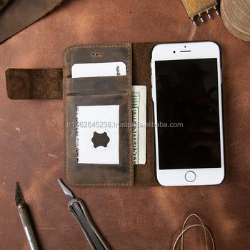 Hand Made Leder Handy Fall Für Iphone 6qualität Abdeckungleder