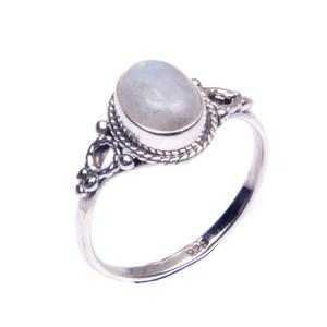 Stunning design stamped jewelry sterling wedding engagement rainbow moonstone 925 silver gemstone ring