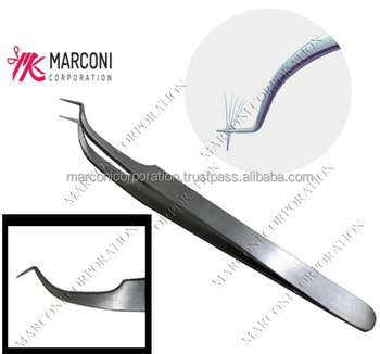 Eyelashes Volume Extension Double Curved Tweezers,Double Angle Lashes  Tweezers Isolation Tweezers,Extension Tweezers Eye - Buy Eyelashes Volume