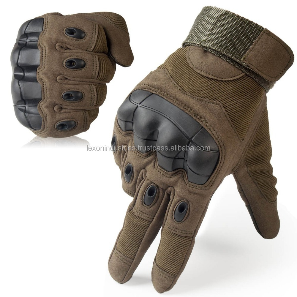 Touch Screen Military Tactical Airsoft Outdoor Hard Knuckle Full Finger Gloves