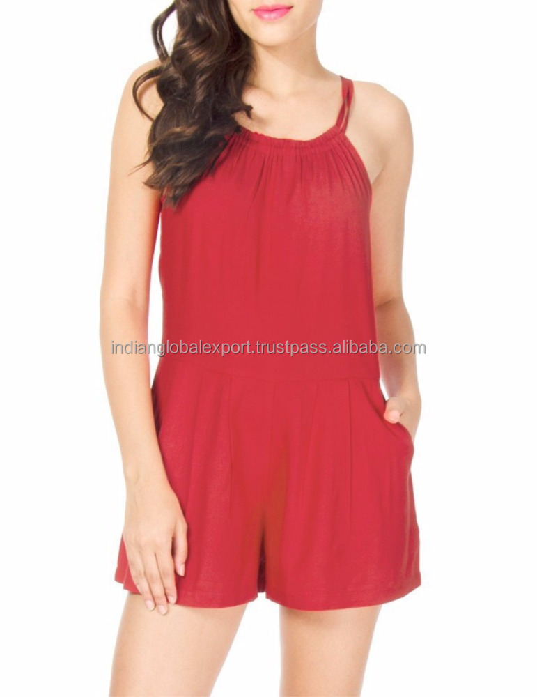 New women short Red Playsuit