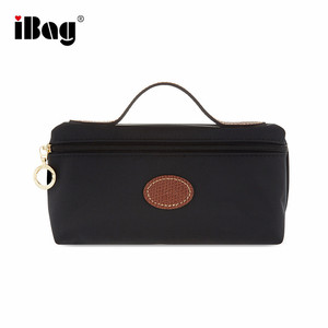 Large Brand Nylon Leather Cosmetic Case Pouch