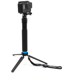 Waterproof Aluminum Go Pro Heros8 Selfie Stick and Tripod in Handle Selfie Pole Monopod with Cellphone Clip Mount Extend to 98CM