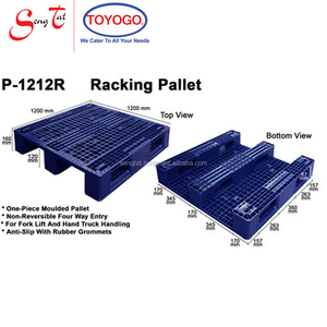 1200*1200*(H)160mm Four Way Entry Hygiene Blue Colour Strong Lightweight Plastic Racking Euro Pallet (P1212-R, Blue)