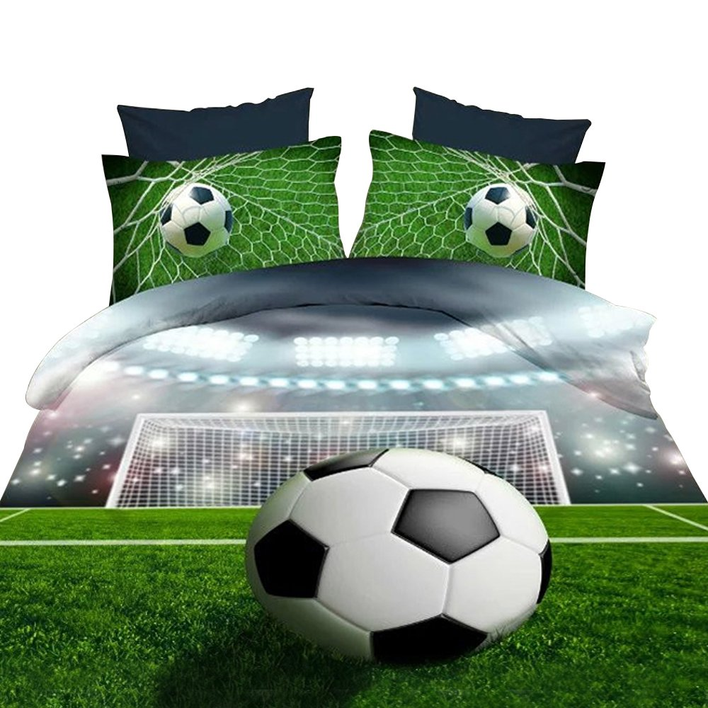Get Quotations · Alicemall 3D Boys Bedding Sets Full Soccer Ball  Football  100% Polyester Kids Duvet Cover d13ce2a27