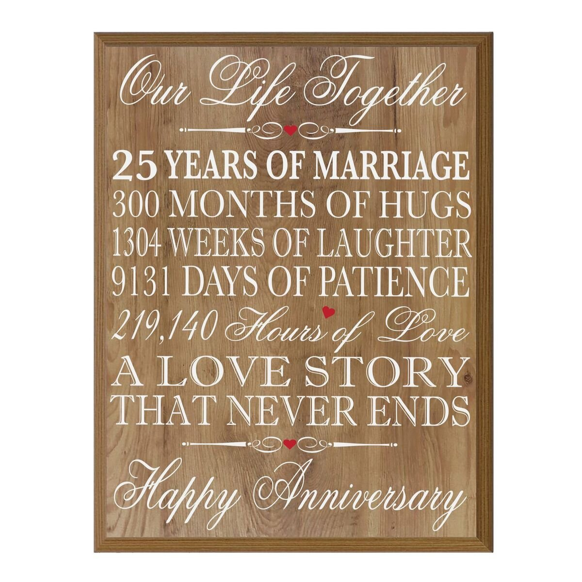 40th Wedding Anniversary Gifts.Buy 40th Wedding Anniversary Wall Plaque Gifts For Couple