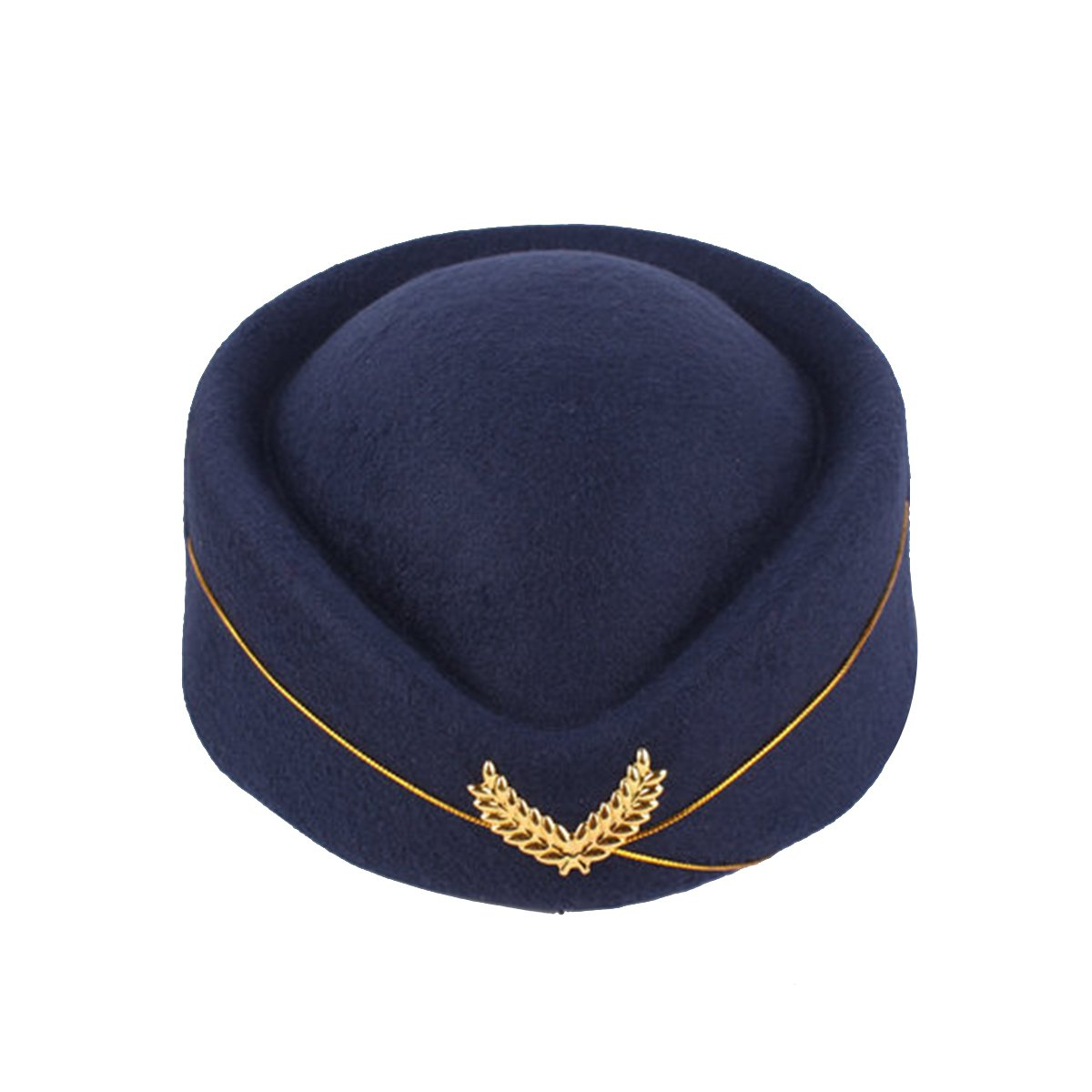 b8fddd31015 BESTOYARD Stewardess Hat Wool Cap Flight Attendant Hat Stewardess Cap for  Costume Cosplay Costume Accessories (