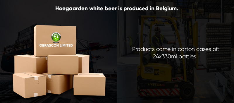 4.9% Alcohol Hoegaarden White Beer Wholesale Supplier