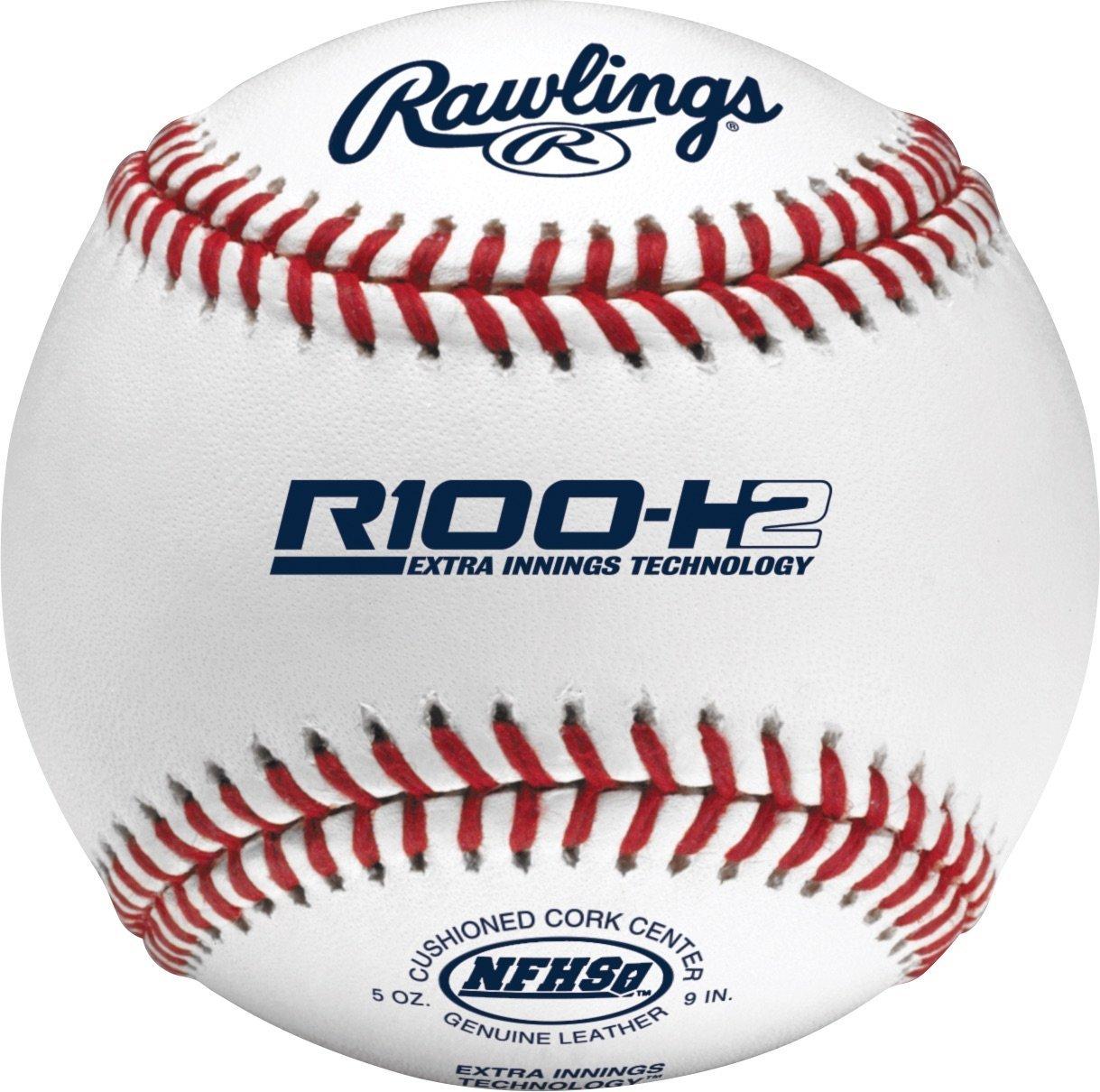Rawlings Raised Seams Official NFHS High School Baseballs, 12 Count, R100-H2