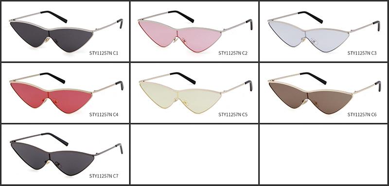 e9e80258d8 STORY STY11257N Vintage Cat Eye Sunglasses Women Small Triangle Sun Glasses  Fashion Color Lenses Female Glasses