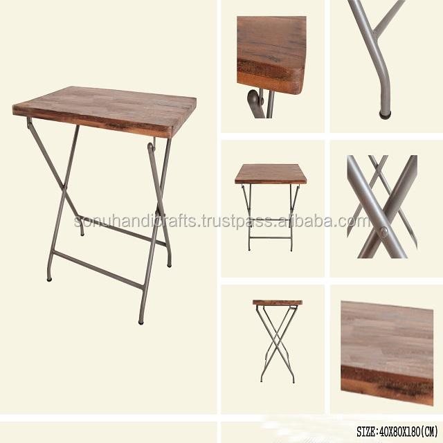 Industriel Pliante Fer Table Bois En L4Rc3AjS5q