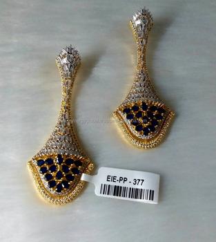 American Diamond Latest Designs Women Statement Cubic Zirconia Earring