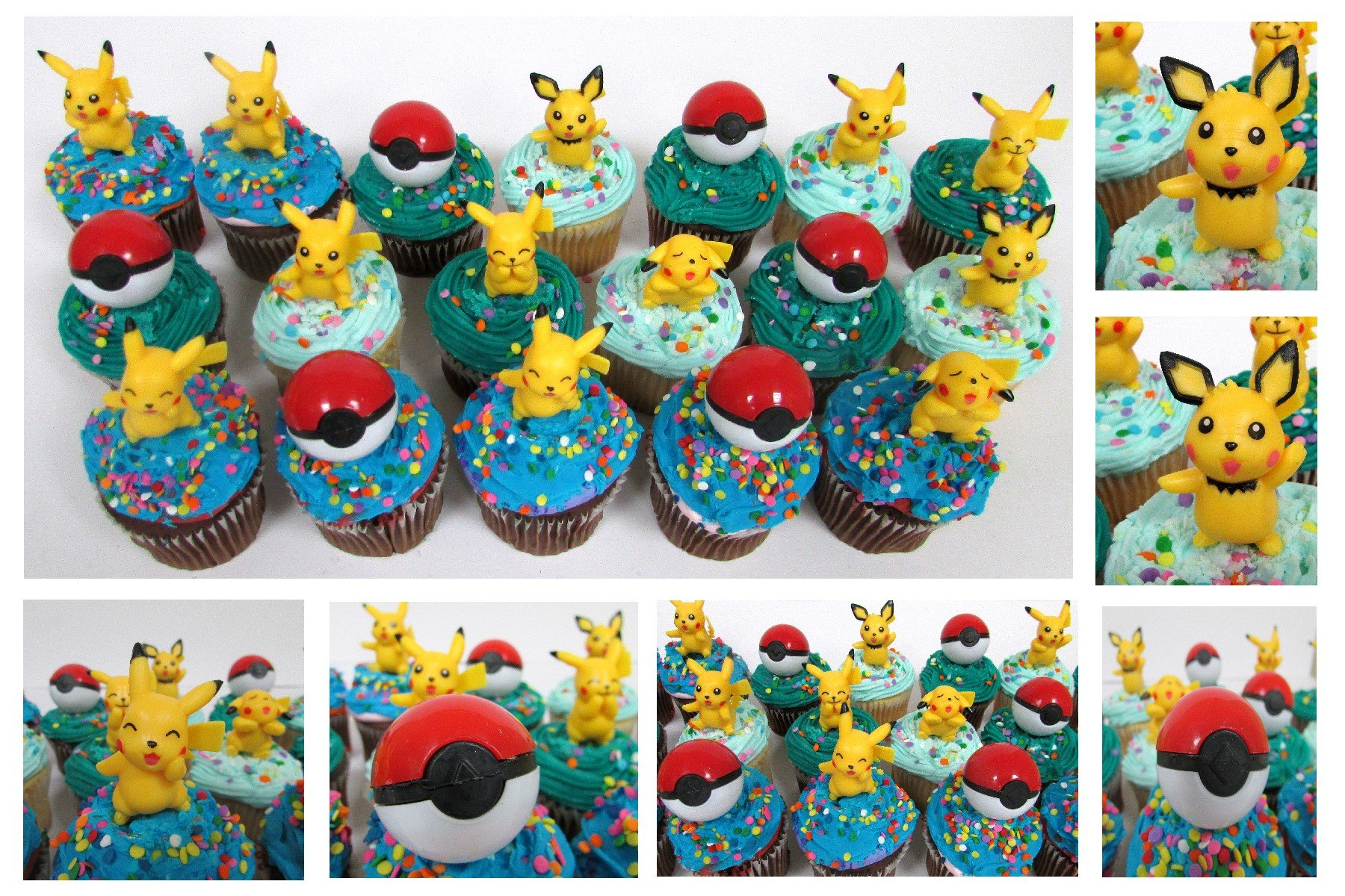 Stupendous Buy Pokemon 18 Piece Birthday Cupcake Topper Featuring Pikachu And Funny Birthday Cards Online Eattedamsfinfo