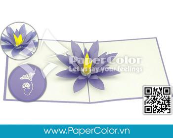 lotus flower 3d pop up card greeting kirigami card vietnam handmade