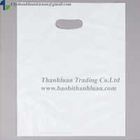 Milk white HDPE, PE BEST PRICE die cut handle plastic shopping bag