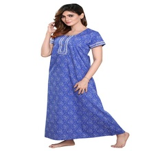 Katoen Fashion Indian Gedrukt <span class=keywords><strong>Nachtjapon</strong></span>/Nachtkleding voor Dames