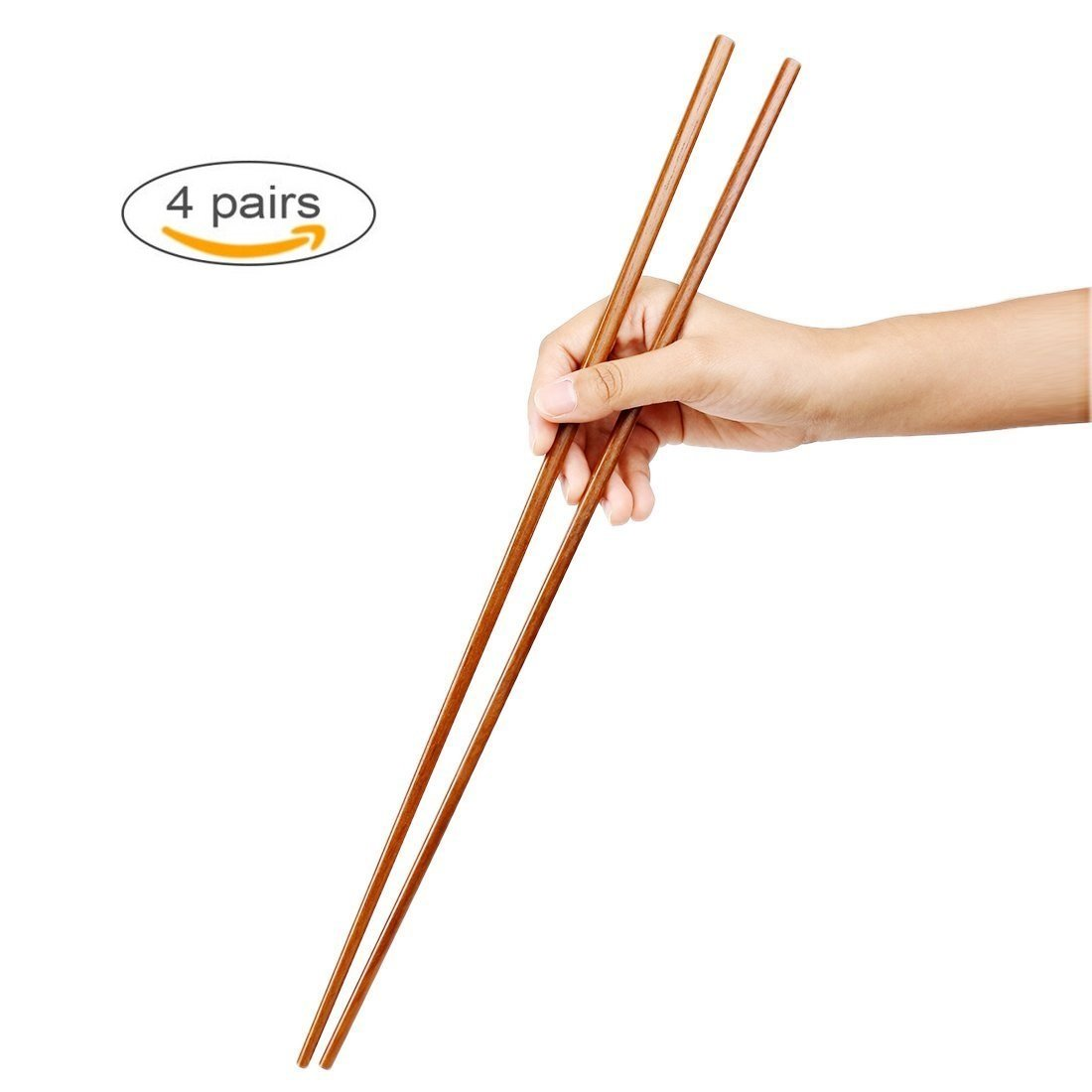 Bamboo's Grocery Cooking Wooden Chopsticks, Hot Pot Chopsticks,16.5 Inch, Extra long,16.5 Inch