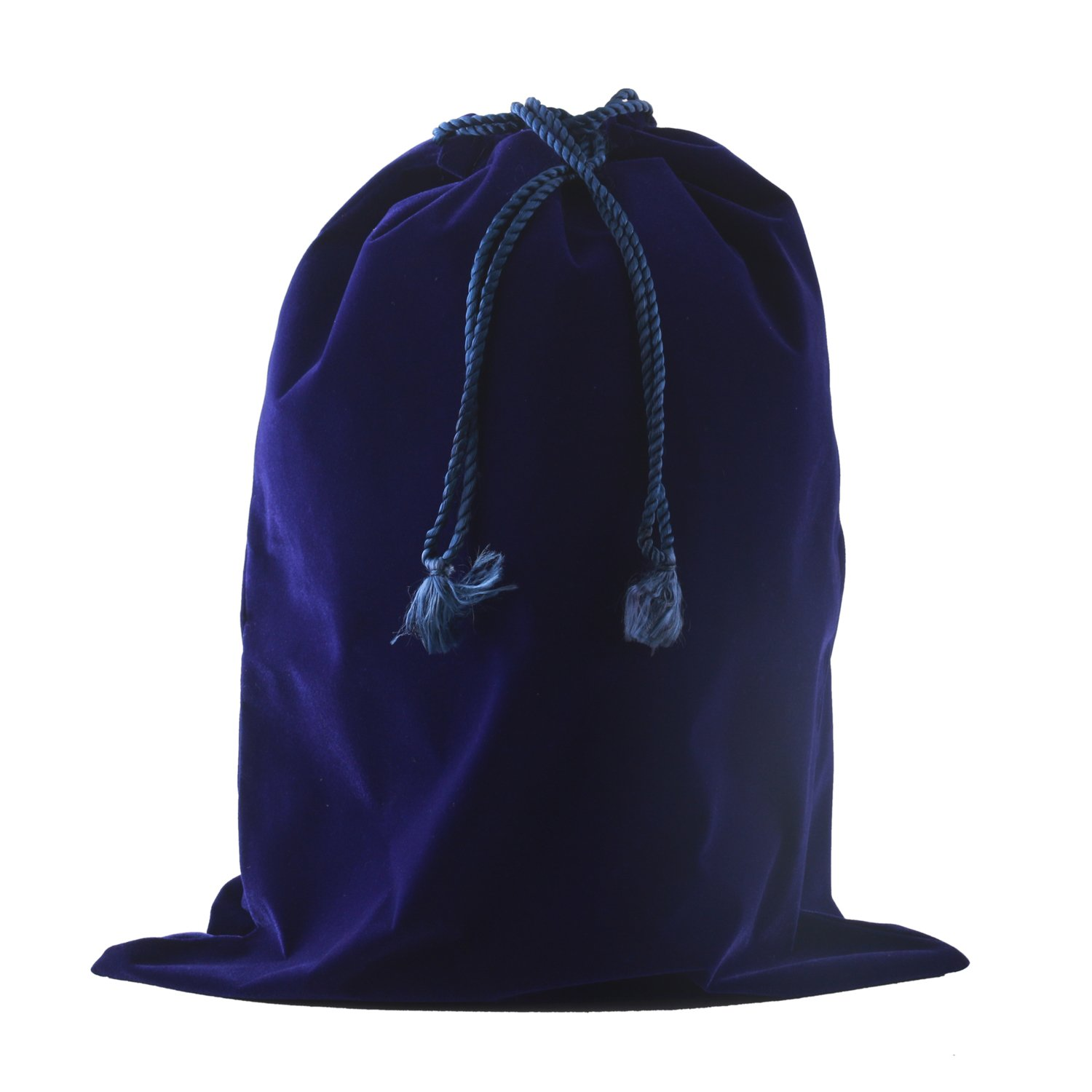 Premium Quality Velvet Urn Bag With Fancy Drawstring Closure (Royal Blue) - Blue Velvet Bag - Drawstring Velvet Bag