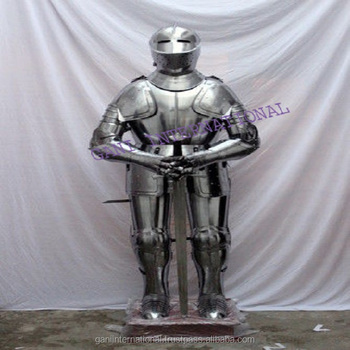 Medieval Knight Suit Of Armor Combat Full Body Armour Suit With Stand , Buy  Decorative Suit Of Armor,Full Body Armor For Sale,Medieval Knight Suit