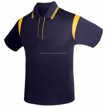 Contrasto polo Casual polo uomo navy giallo