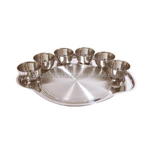 Stainless Steel thali set with bowls