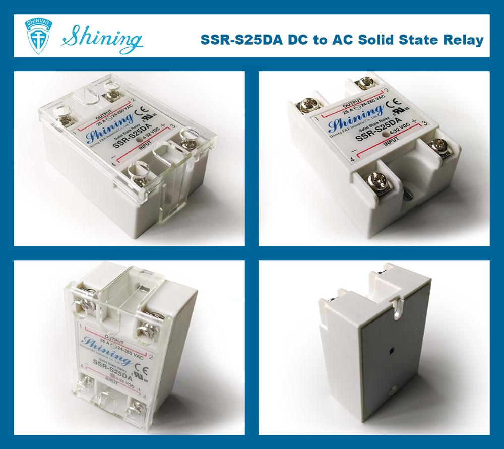 SSR-S25DA DC to AC 25A Low Voltage Single Phase SSR