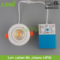 Hot sale cETLus ES approved 3inch 7W IC rated dimmable led COB gimbal downlight Air tight 3500k4500k5500k CRI90 IP44