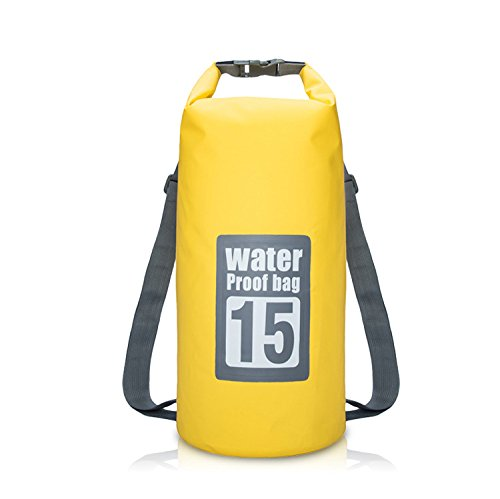 Get Quotations · Iokone Outdoor Dry Bag 15L Lightweight Waterproof Bag PVC  Wet Dry Sacks for Kayaking   Boating 695e34a27e031