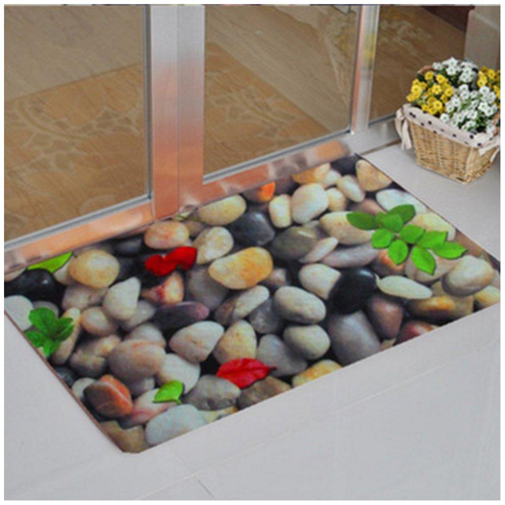 fd0368093e Get Quotations · 3D Shell Cobblestone Entrance Rug Floor Mats Shoe Scraper  Doormat 16×24
