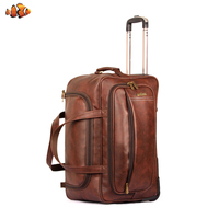 The Clownfish Marquess 49 liters Faux Leather Travel Duffle Trolley Bag