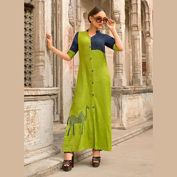 07c8fc9b0a Party Wear Designer Gorgeous Look Fancy Kurtis Wholesale Collection