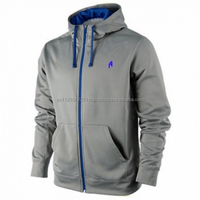 Wholesale 100% Cotton French Terry Zip Up Hoodie