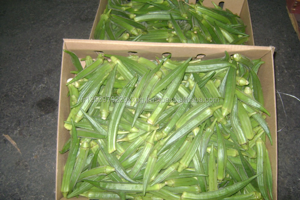 New Crop Fresh Organic Iqf Frozen Whole Okra for Sale