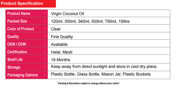 750ml Natural Leaf Virgin Coconut Oil