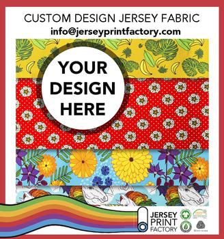 Make To Order Printed Fabric Custom Design Jersey Fabric