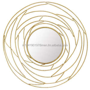Luxury Metal Wall Decorative Mirror for home decor gold silver Black brass shade copper antique style USA Australia european