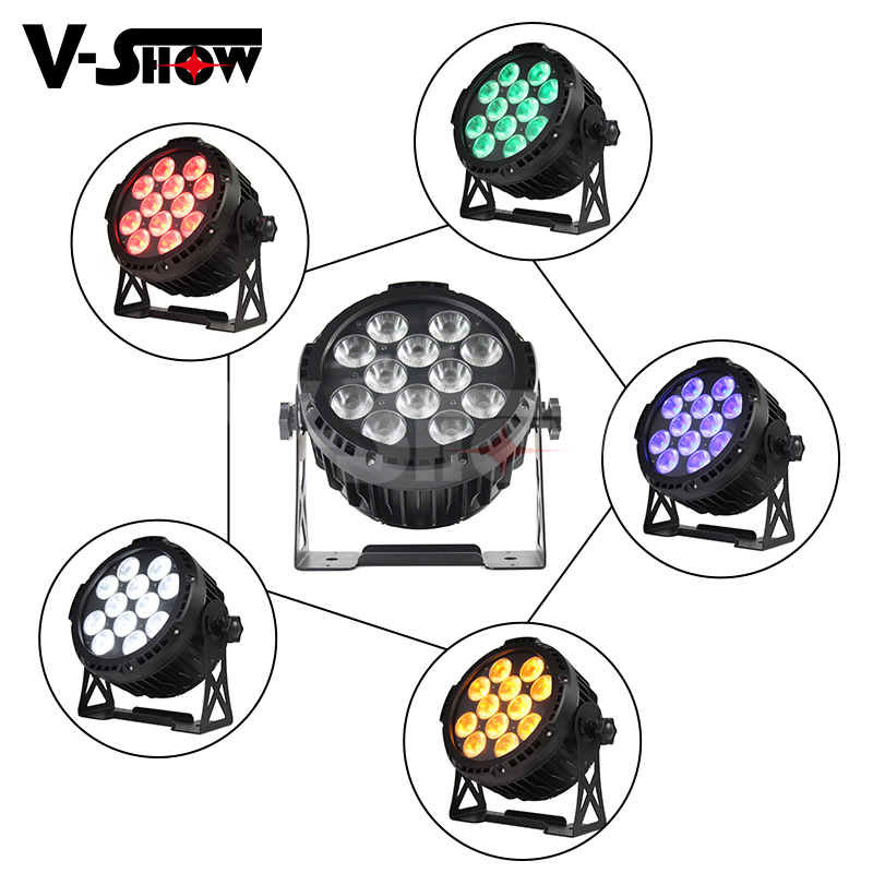 IP65 Outdoor Rechargeable DMX Wireless Battery Powered Wash Par 6in1 RGBWAUV 12x18w LED Par Uplight