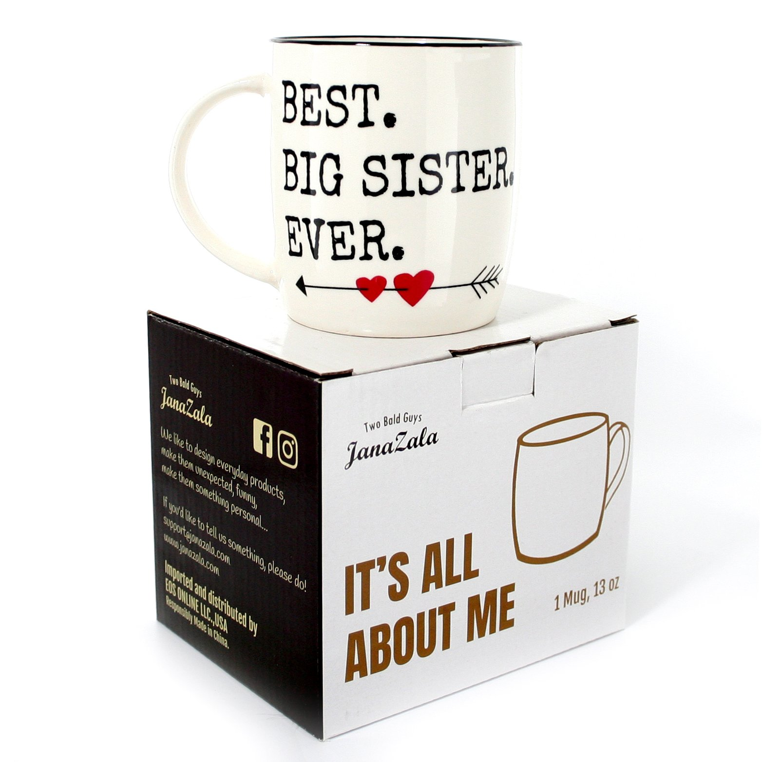 Gifffted Best Big Sister Ever Coffee Mug Gift Funny Anniversary And Birthday