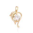 32861-Xuping Hottest Selling Dolphin Woman Heart Shaped Pendant
