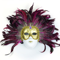 Halloween Custom Masquerade Feather Carnival Mardi Gras Party Mask
