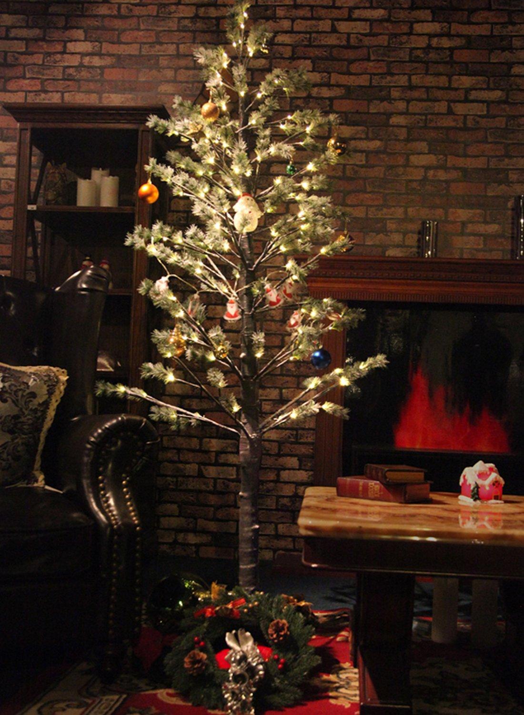 Fashionlite Pine Tree Snow Covered, 188 LED Light, 6Ft,Warm White